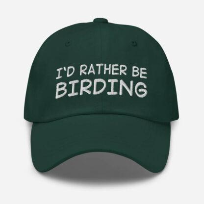 I'd Rather Be Birdingadjustable dad hat